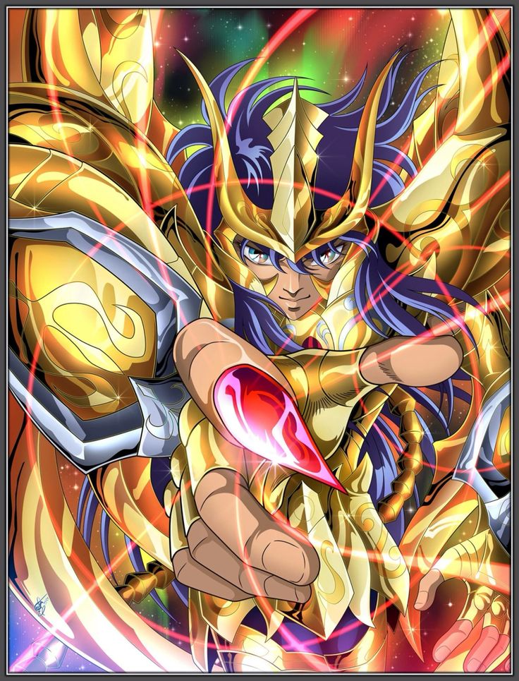 Gold Saint Scorpio Milo with Divine God Cloth. Saint Seiya Soul of Gold