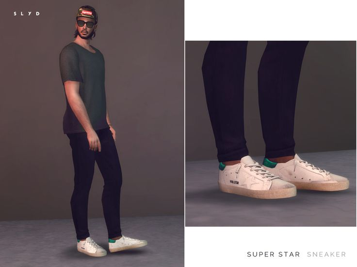 Slyd 39 S Super Star Sneakers Male Version Sims 4 Cc