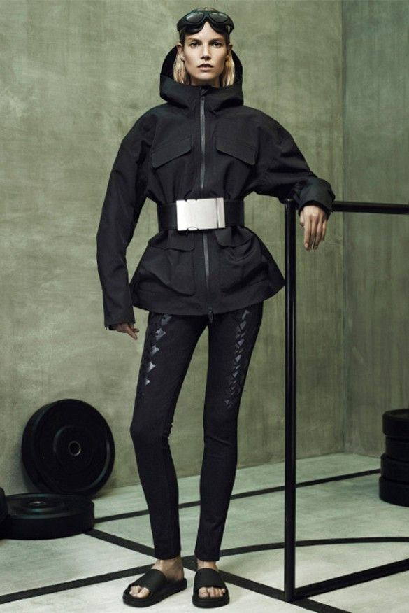 Rain coat with oversized belt buckle. // Alexander Wang for H&M