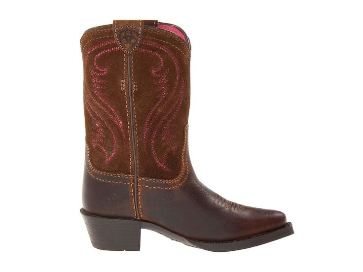 Ariat Kids Fancy Distressed (Toddler/Little Kid/Big Kid) Cowboy Boots Brown/Chocolate