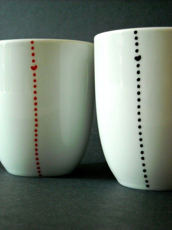 DIY restyle mugs - design them with sharpies!