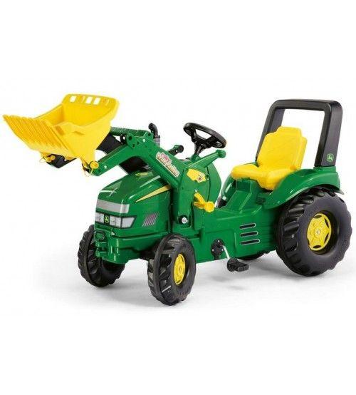 Tractor Cu Pedale Si Copii ROLLY TOYS 046638 Verde    Tractor excavator Rolly Toys.  Varsta recomandata de producator: 3-10 ani  Tractorul are 4 roti, 2 mici in fata si 2 mari in spate..