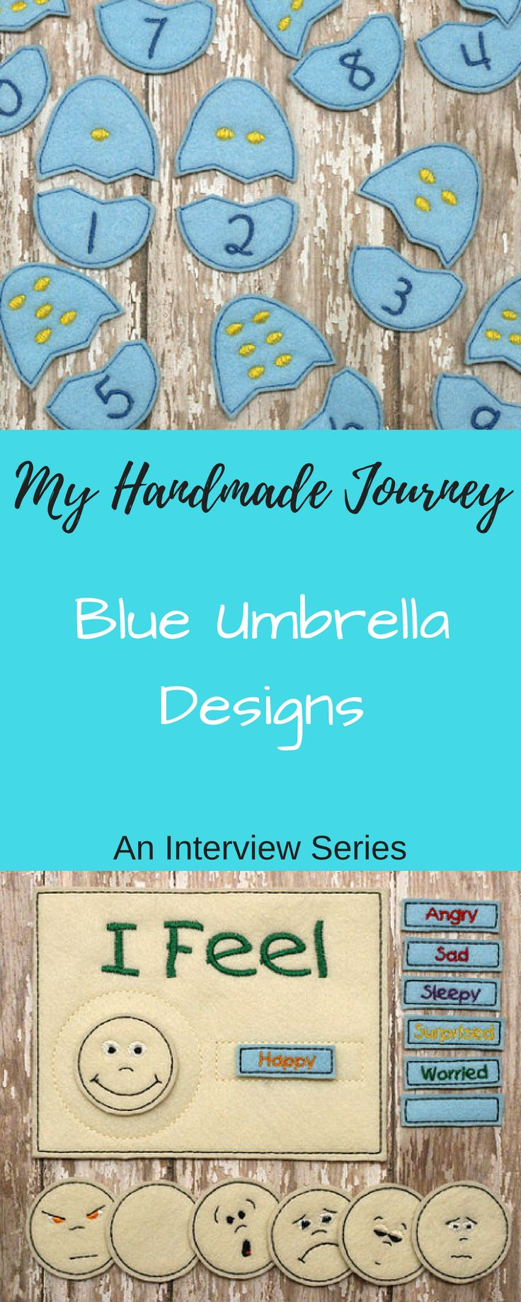 Follow the journey of handmade artisans selling online. Come read our interview with shop owner Amanda from Blue Umbrella Designs #etsy #etsyseller #amazonhandmade #startinganetsyshop #buildingourhappilyeverafter #blog #handmade #happinessishandmade