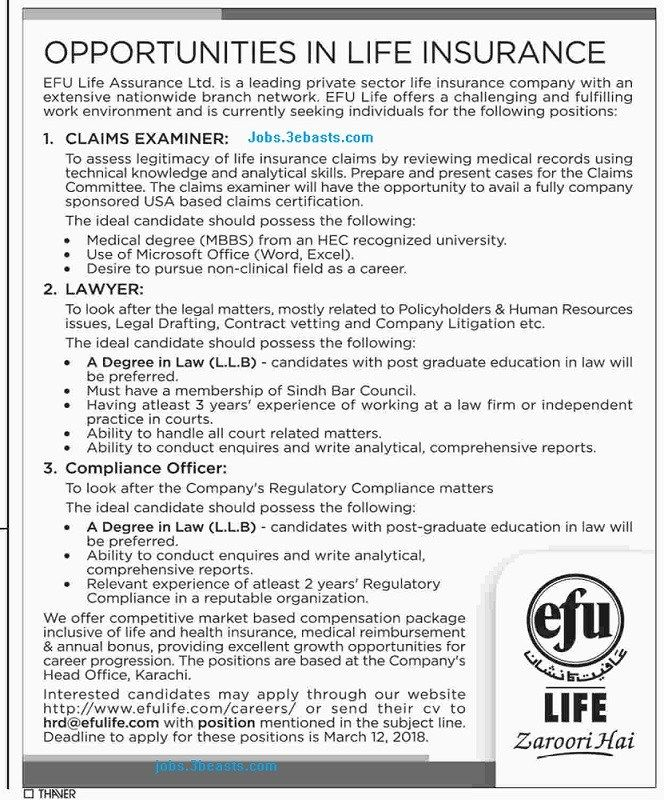Opportunities In Life Insurance Advertisement Date 06 Fe 2018