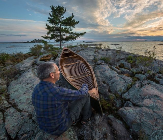 Shawn James on a solo canoe trip