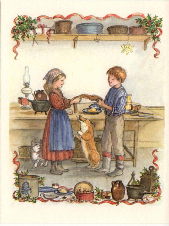 RARE Tasha Tudor Vintage Irene Dash Christmas Card MINT Condition EE74-18D in Books, Antiquarian & Collectible   eBay