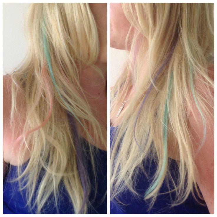 Pastel Hairchalk colours