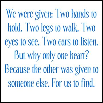 """WHY"" Were We Only Given 1 Heart?? So We Go & Find AnOther One's Heart That Is Compatible With Ours!!!"