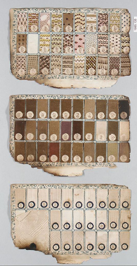 1784. British, Manchester. Textile Sample Book.