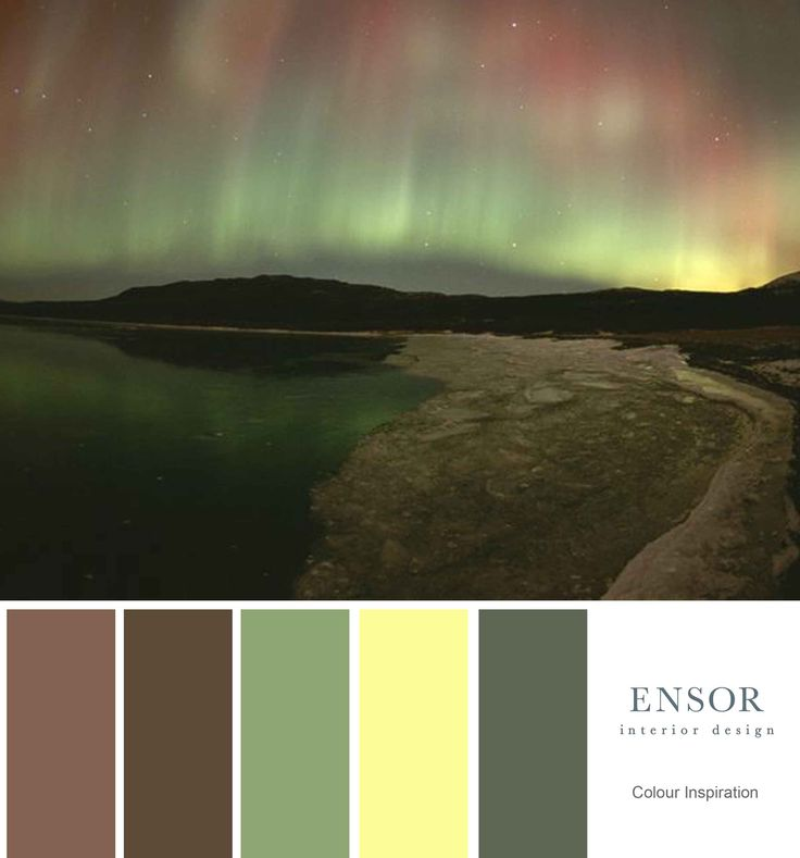 Moody dark colourway created from this image of the northern lights. #design #inspire