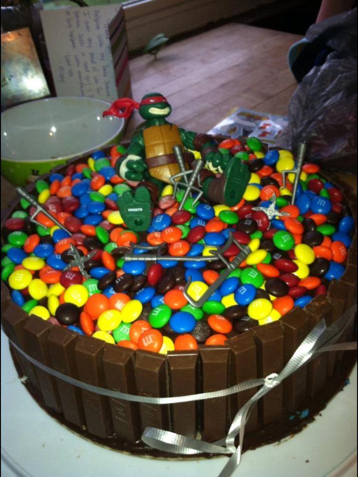 Kit kat m&m ninja turtle cake  Cakes  Pinterest  Turtle cakes ...