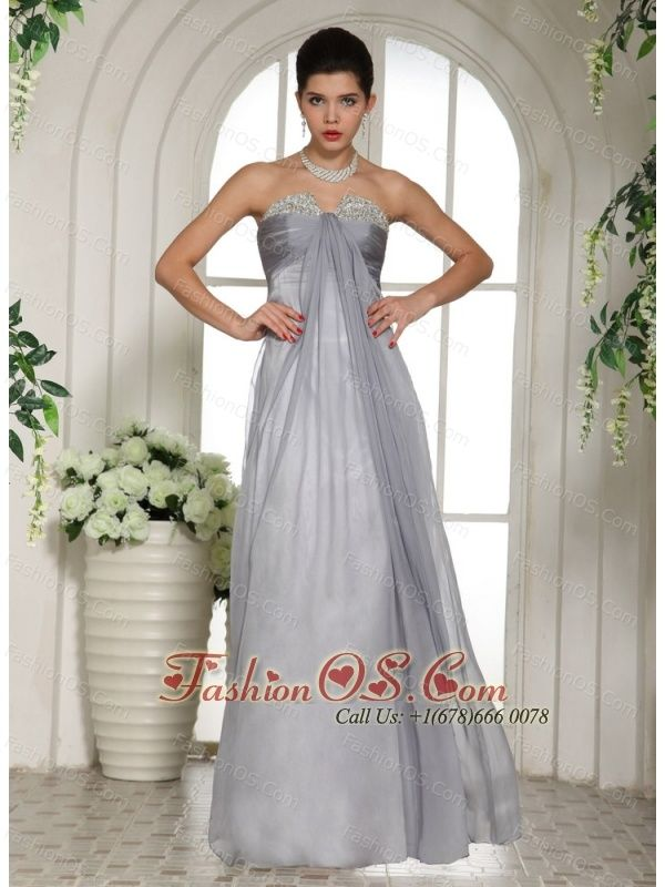 Gray Beaded Decorate Bust and Ruch Stylish Prom Celebrity Dress- $136.99  http://www.fashionos.com   2013 2018 a pageant outfit | gray prom dress | prom dress for spring | white plains pageant gown | rochelle maria rao pageant suit | miss continente americano pageant suit | prom dress with zipper | designers prom dress with beading and ruching | dress in edmonds-woodway high school
