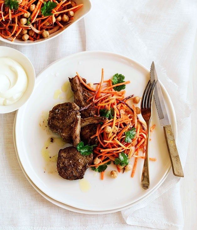 Spiced Lamb with Carrot and Chickpea Salad |