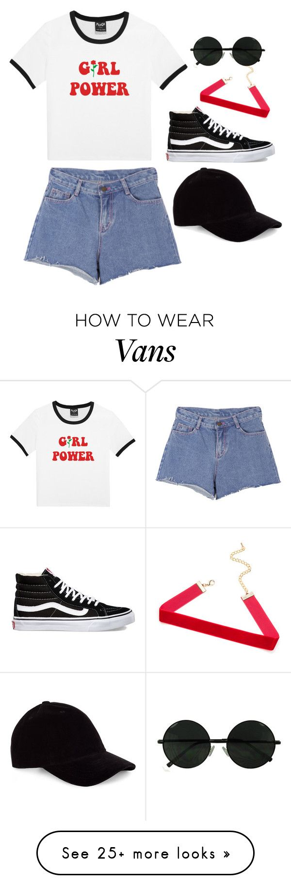 """The future is female"" by kwithaleigh on Polyvore featuring Vans, Pink Stitch and Le Amonie"
