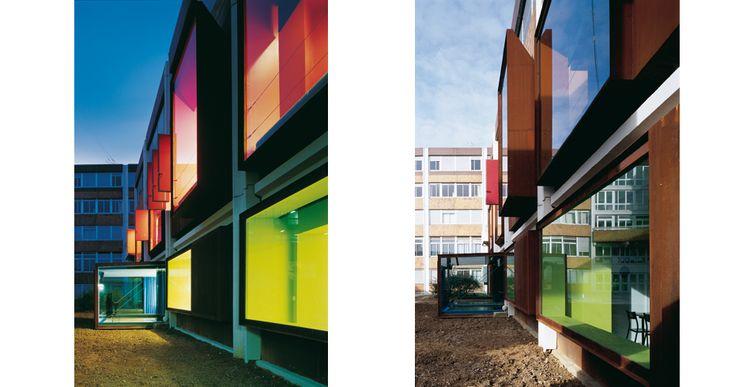 U.F.R. Arts Universite Paris   Saint-Denis, Paris, France   Jacques Moussafir Architectes   photo by Georges Fessy
