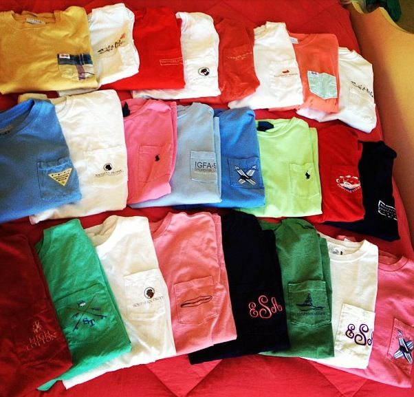 CAN I HAVE ALL THESE SHIRTS? SOUTHERN TIDE, SOUTHERN TSHIRT COMPANY AND VINEYARD VINES