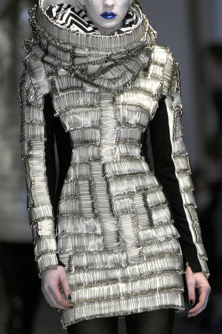 Wow! Completely made of safety pins! Not only just straight awesome... But insanely creative!  Gareth Pugh F/W 2008- safety pins