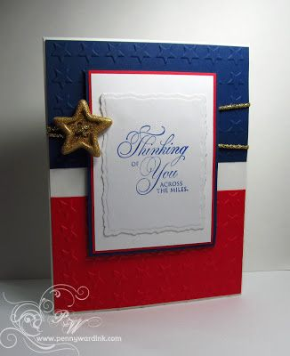 Great patriotic card but would also look great as a picture frame idea.