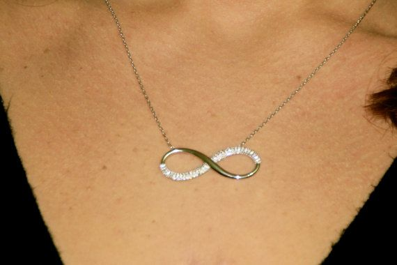 Silver Infinity Necklace Sterling Silver Necklace by GozdyJewelry