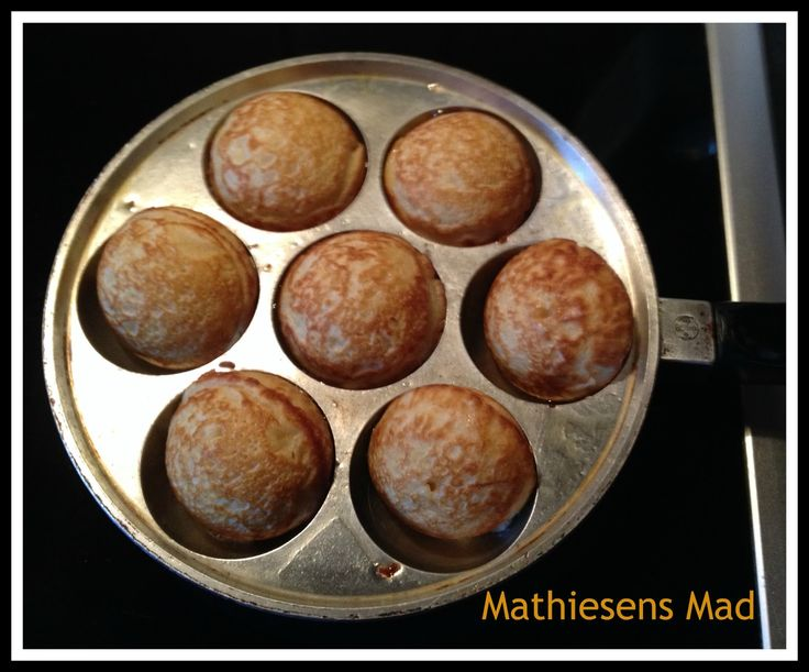 Æbleskiver uden kærnemælk   Mathiesens Mad