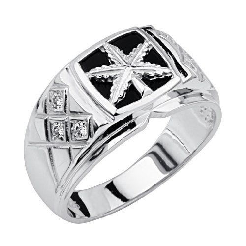 .925 Sterling Silver CZ and Onyx Marajuana Leaf Embossed Mens Ring - Size 10 The World Jewelry Center,http://www.amazon.com/dp/B007AKELVM/ref=cm_sw_r_pi_dp_7otzsb04NZ37YJWS