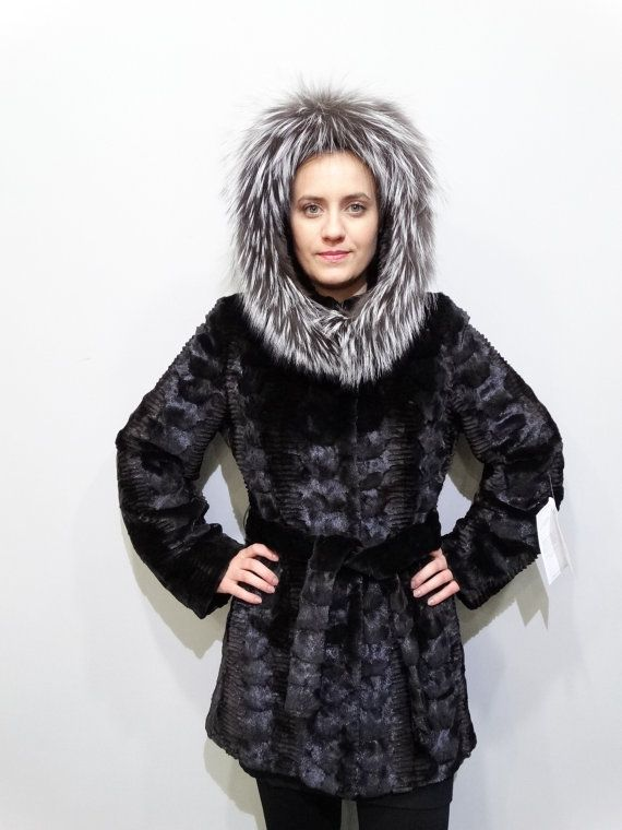 Real fur jacketHooded JacketMink Fur sheared by FilimegasFurs