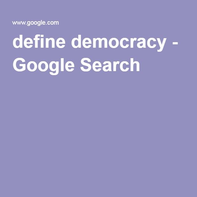 define democracy - Google Search