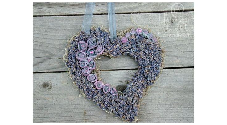 Heart with lavender home decor / Levendulás Szívem Csücske falidísz otthon dekoráció