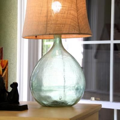 Make your own lamp....pottery barn look- a- like.