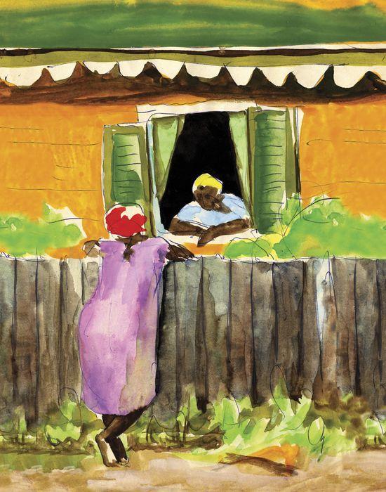 Morning Chat. Caribbean Art. Virgin Islands. West Indian Art.