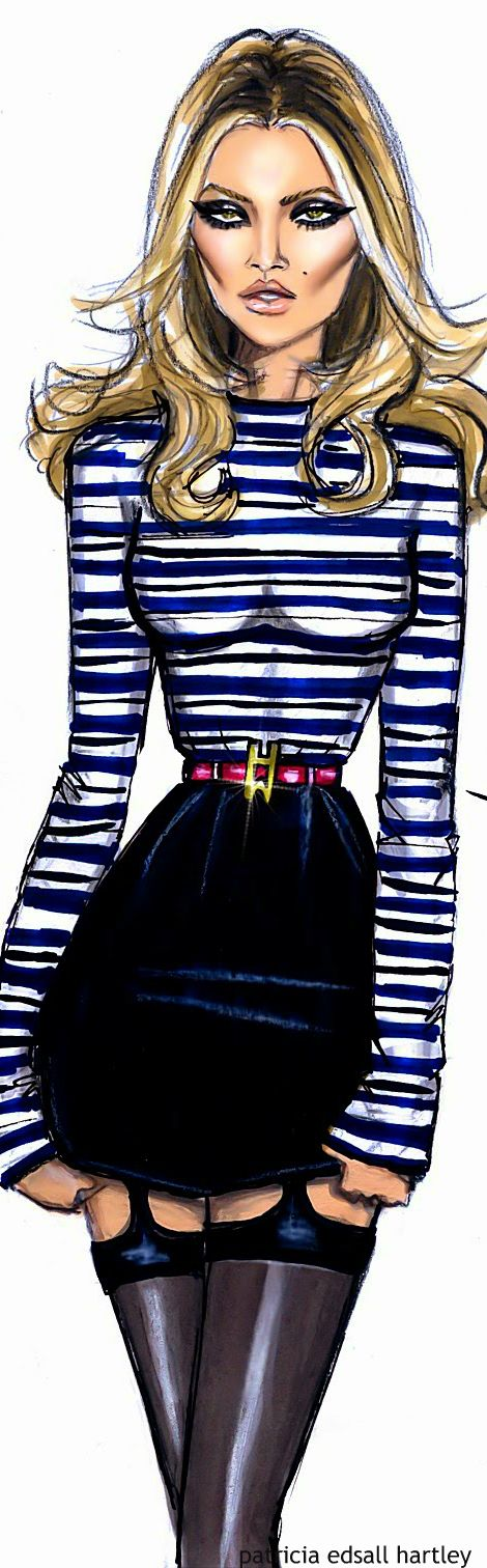 Kate Moss by Hayden Williams Fashion Illustration | House of Beccaria~