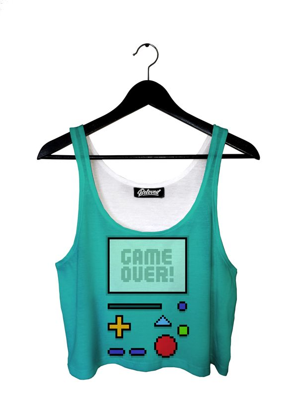 Game Over Crop Top by Beloved Shirts