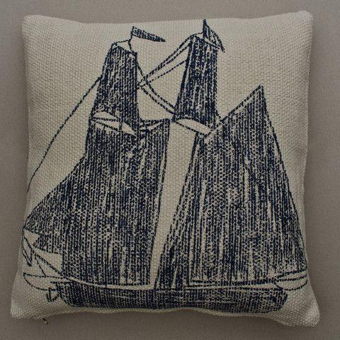 Large Reversible Ship/Ship Wheel Cushion