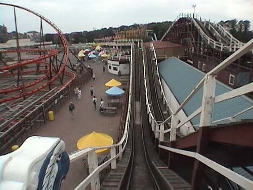 View from the scenic railway, Dreamland Amusement Park, Margate