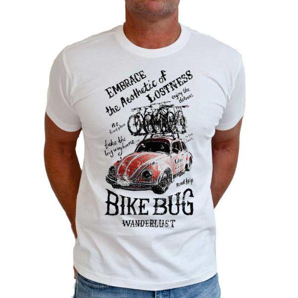Bike bug men's t shirt in white