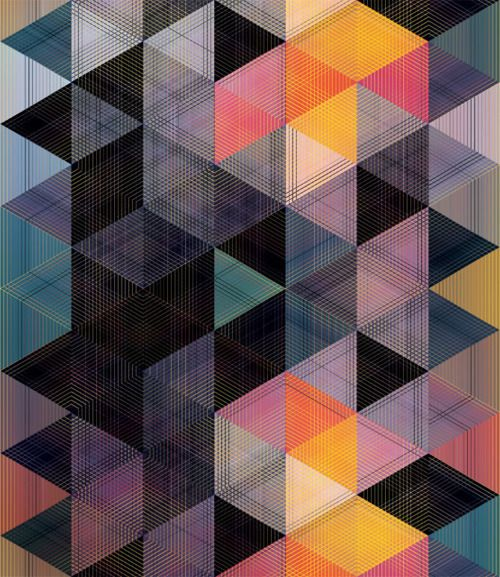 Andy GilmoreDesign Pattern, Inspiration, Triangles Pattern, Geometric Pattern, Art, Andy Gilmore, Colors Schemes, Graphics, Quilt Pattern