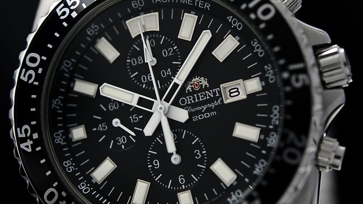 Strong contrast + strong lume = win win. Discover more of our Captain Chronograph watch: http://orientwatchusa.com/catalogsearch/result/?q=tt11