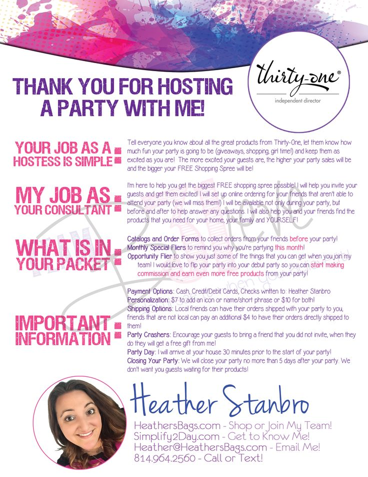 Hostess Letter for Direct Sales                                                                                                                                                     More