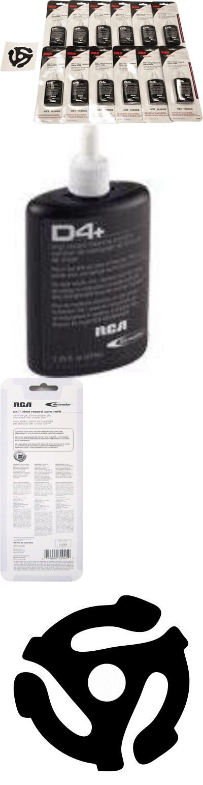 Vinyl Record Cleaning: 12 Rd1046 Rca Discwasher Record Cleaning D4+ Fluid Refill Bottles -> BUY IT NOW ONLY: $48.78 on eBay!