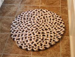 Махровый коврик своими руками