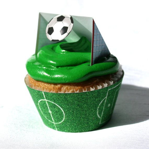 Soccer Cupcake Wrapper Instant Download by Printamajig on Etsy, $4.00