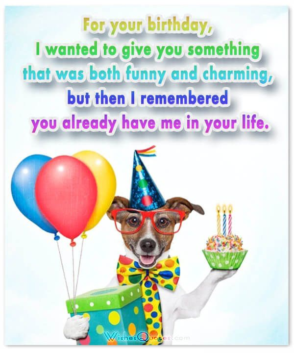 image with funny happy birthday message