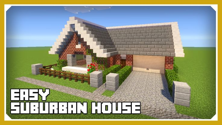 Minecraft: How To Build A Small Suburban House Tutorial (Easy Survival M...