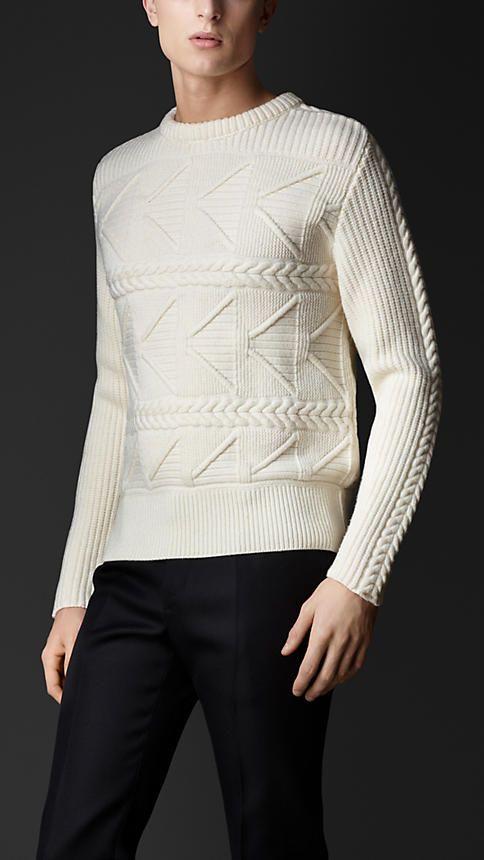 Burberry Prorsum Multistitch Cashmere Sweater.