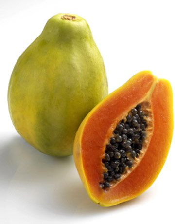 Scared of getting wrinkes? Eat more papaya! This fruit has tons of antioxidants, which will prevent your skin from pesky wrinkles.