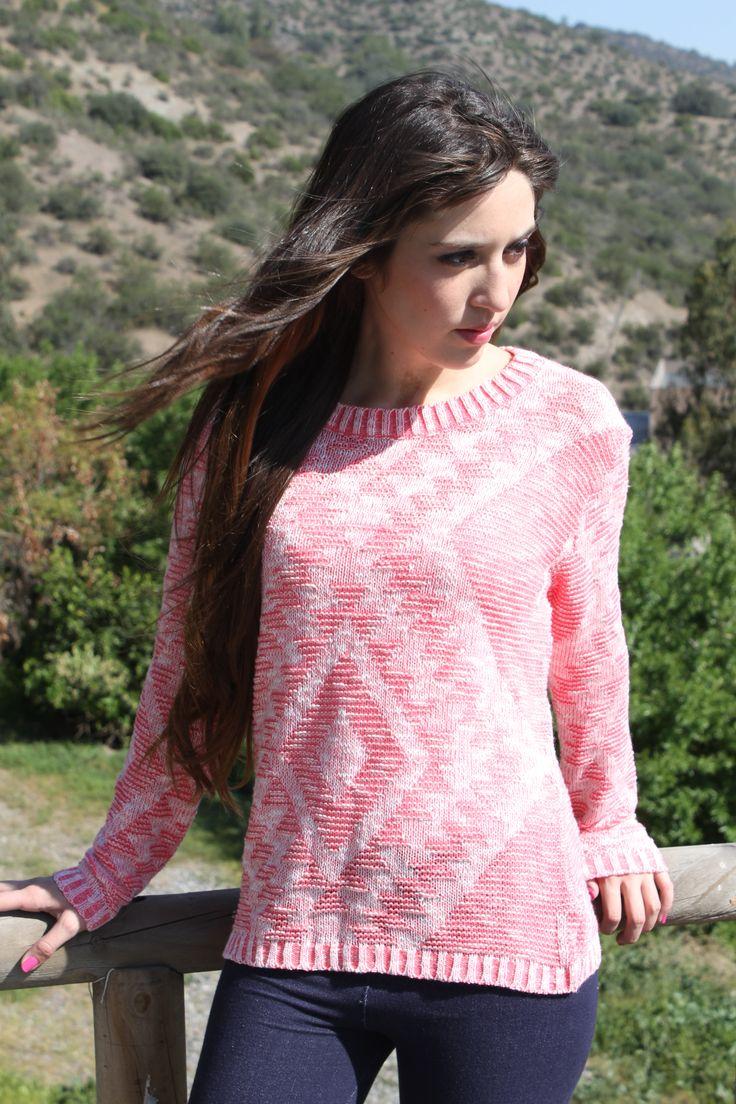 fluor pink sweater