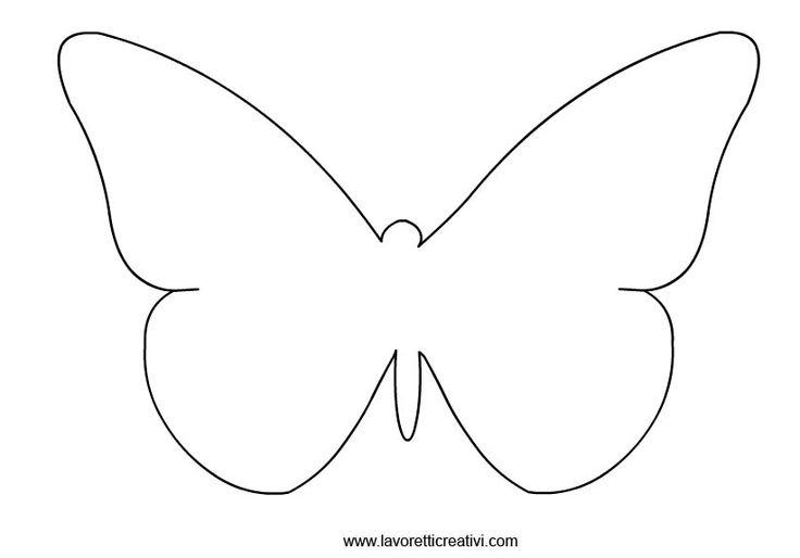 Farfalle sagome da ritagliare in sagome lavoretti for Immagini farfalle da ritagliare
