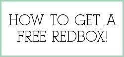 Redbox free rental codes