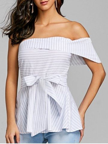 GET $50 NOW | Join RoseGal: Get YOUR $50 NOW!https://www.rosegal.com/blouses/bowknot-one-shoulder-peplum-blouse-2030908.html?seid=5957462rg2030908