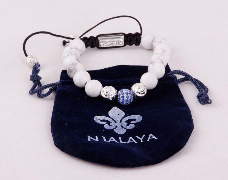 Браслет Nialaya (Шамбала) Made In Hollywood с белыми камнями #19739
